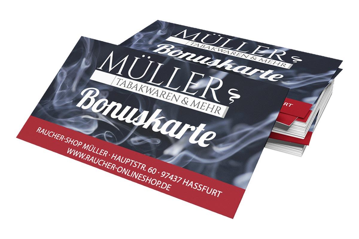 Bonuskarten für den Rauchershop in Haßfurt